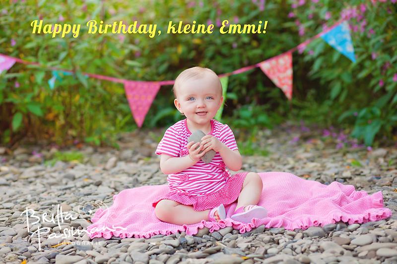 Babyfotos Dortmund oder Happy Birthday, kleine Emmi!