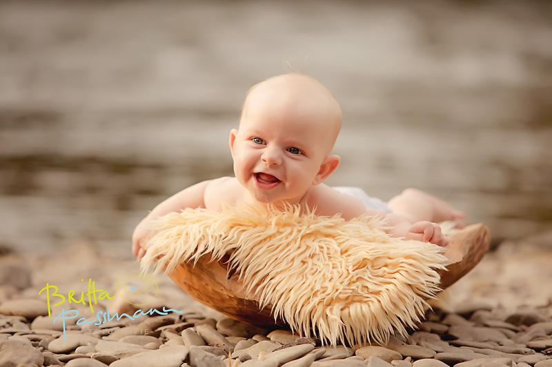 Laurin | 5 Monate | Fröhliche Babyfotos an der Ruhr