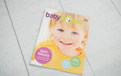 Veröffentlichung im Babybonus-Magazin vom DM-Markt | Britta Passmann