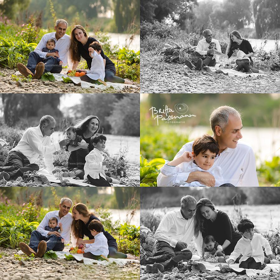 Fröhliche Familienfotos