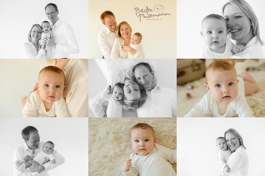 Moderne Familienfotos zu Weihanchten
