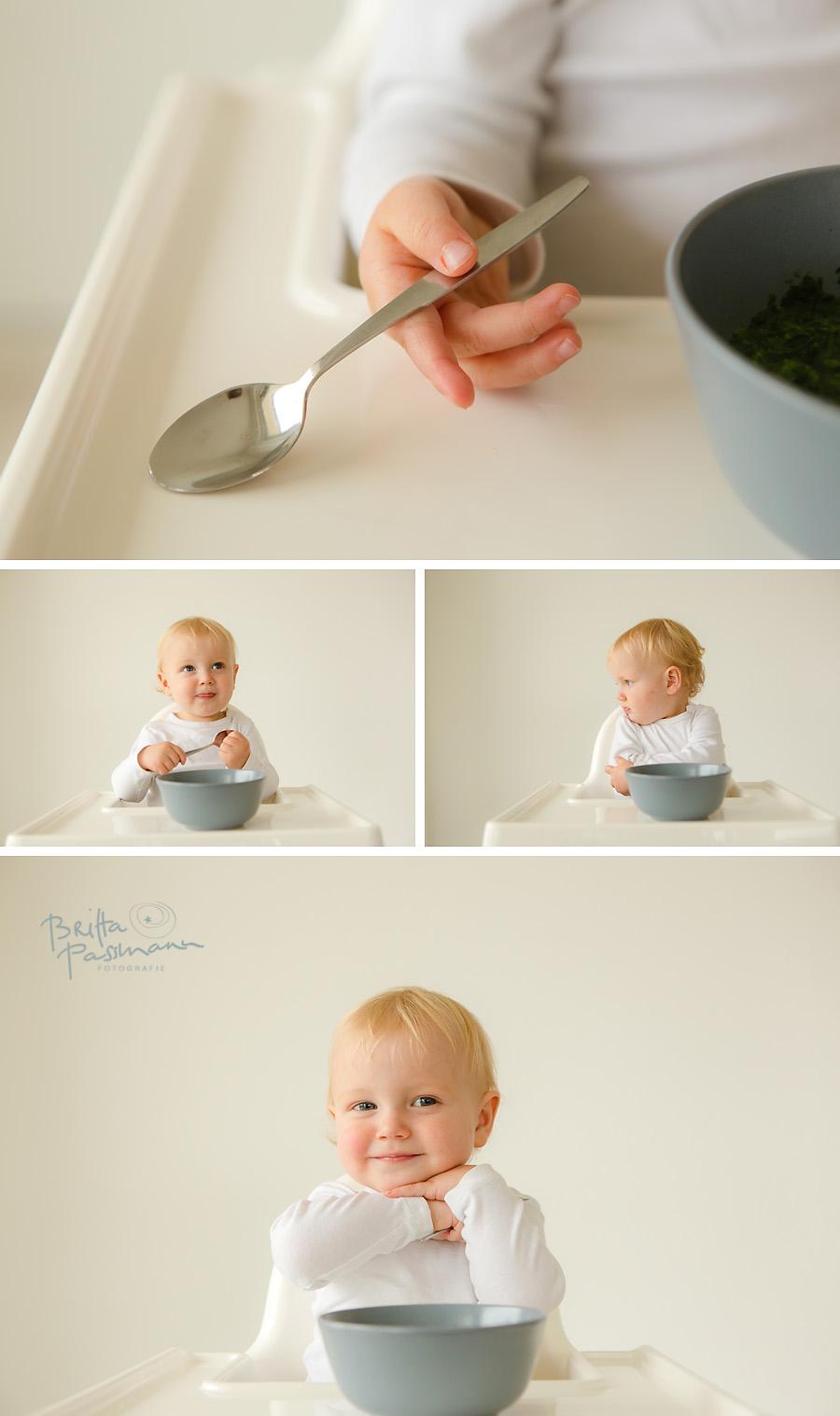 Kinderfotos Nudeln essen alleine essen Fotoshooting