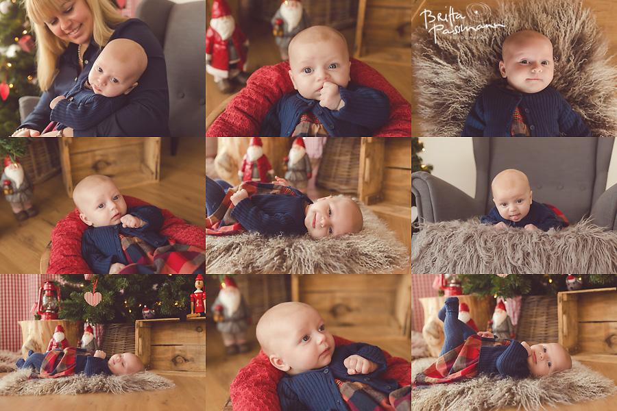 Babyfotos im Fotostudio Weihnachten