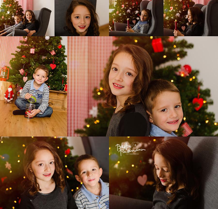 Geschwisterfotos Fotoshooting Dortmund Weihnachten