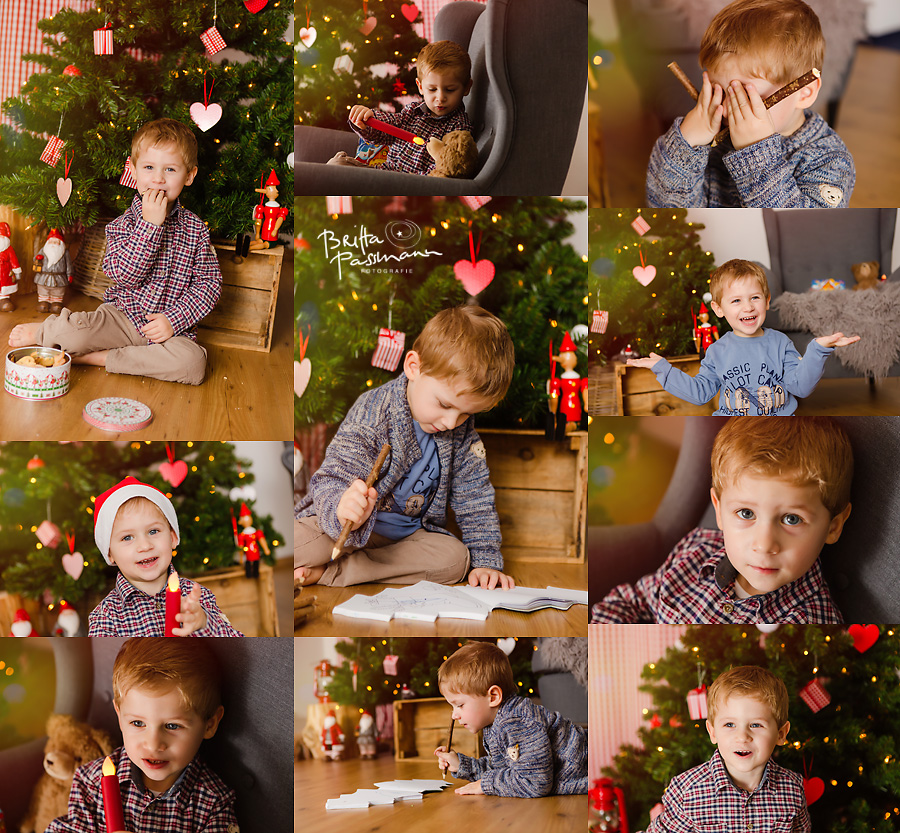 Geschwisterfotos im Fotostudio Dortmund Weihnachten