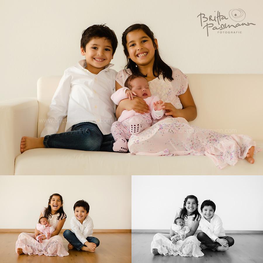 Geschwisterfotos im Fotostudio in Dortmund