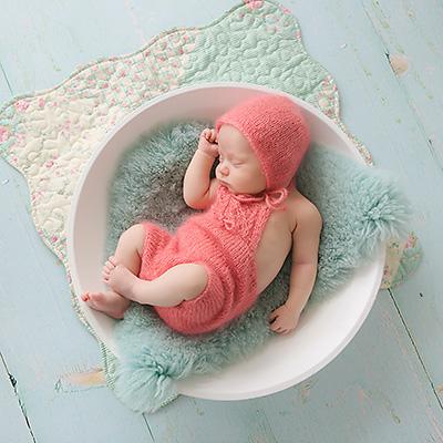Neugeborenenfotografie in Dortmund | Die kleine Emma war zum Fotoshooting da