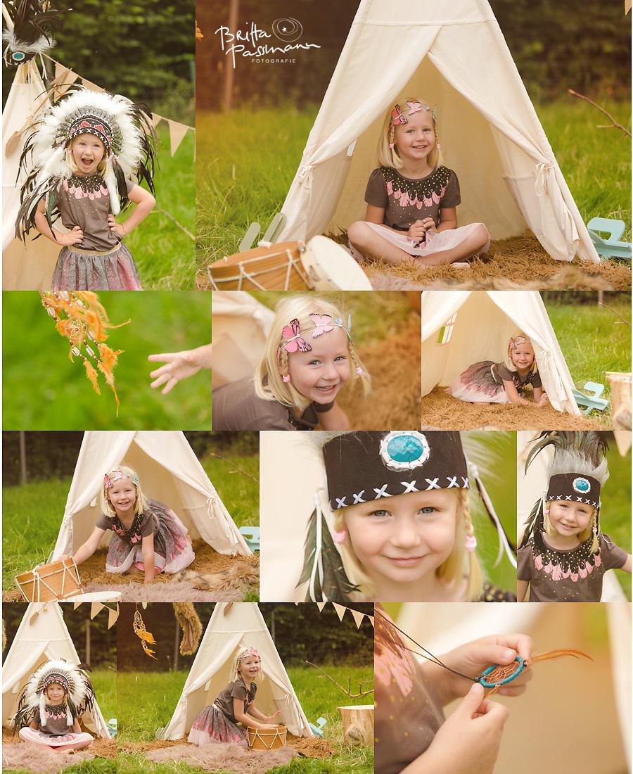 Kinderfotos Kinderfotografie Bochum Indianerfotoshooting