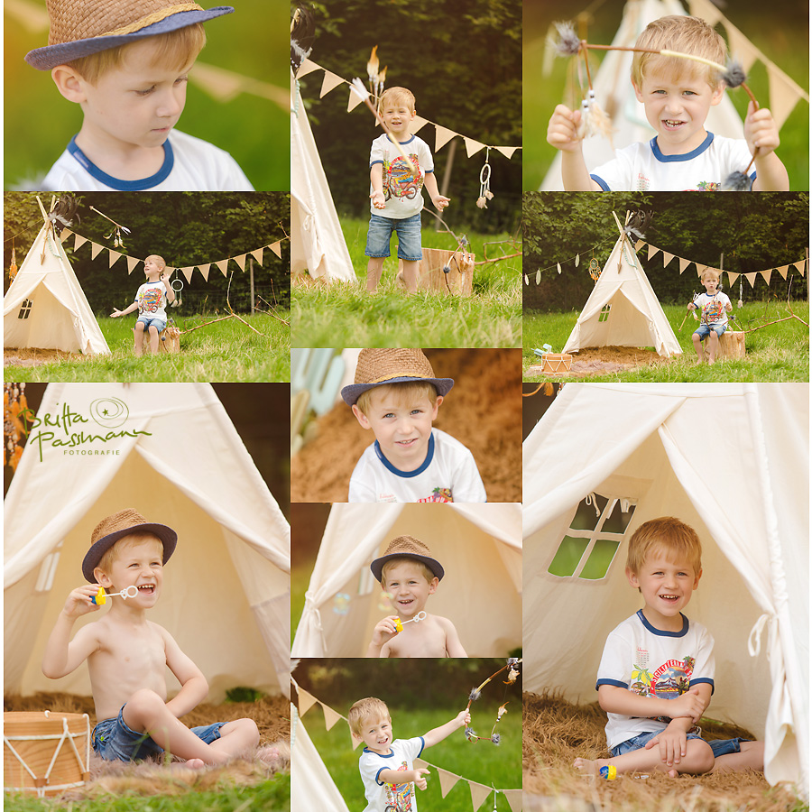 Kinderfotos Kinderfotografie NRW Indianerfotoshooting
