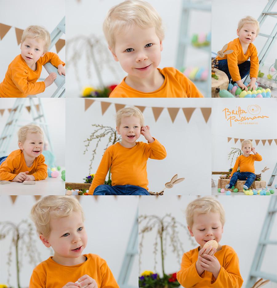 Kinderfotos Eier suchen Ostereier Fotoshooting Dortmund Fotostudio