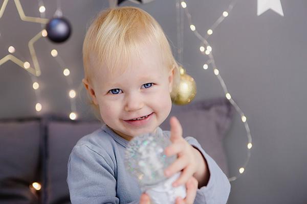 Kinderfotos zu Weihnachten