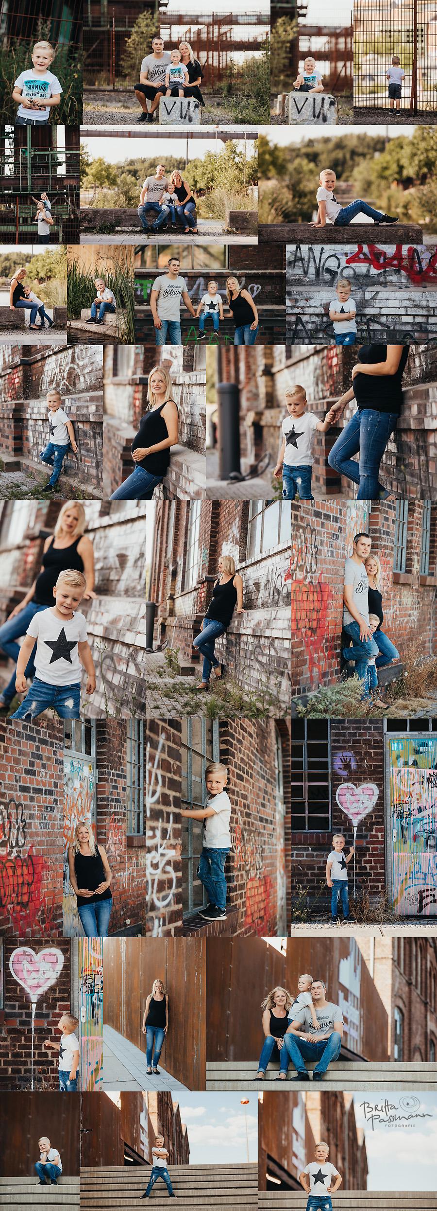 Industriekultur Sommer Fotoshooting Dortmund Familienfotos Kinderfotos Fotostudio Britta Passmann Fotografie