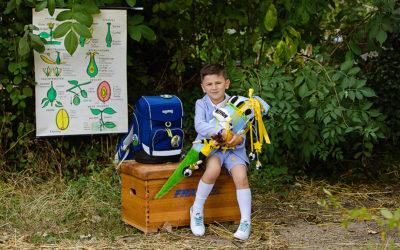 Fotoshooting zur Einschulung und Meilensteinkarten für die Grundschulzeit