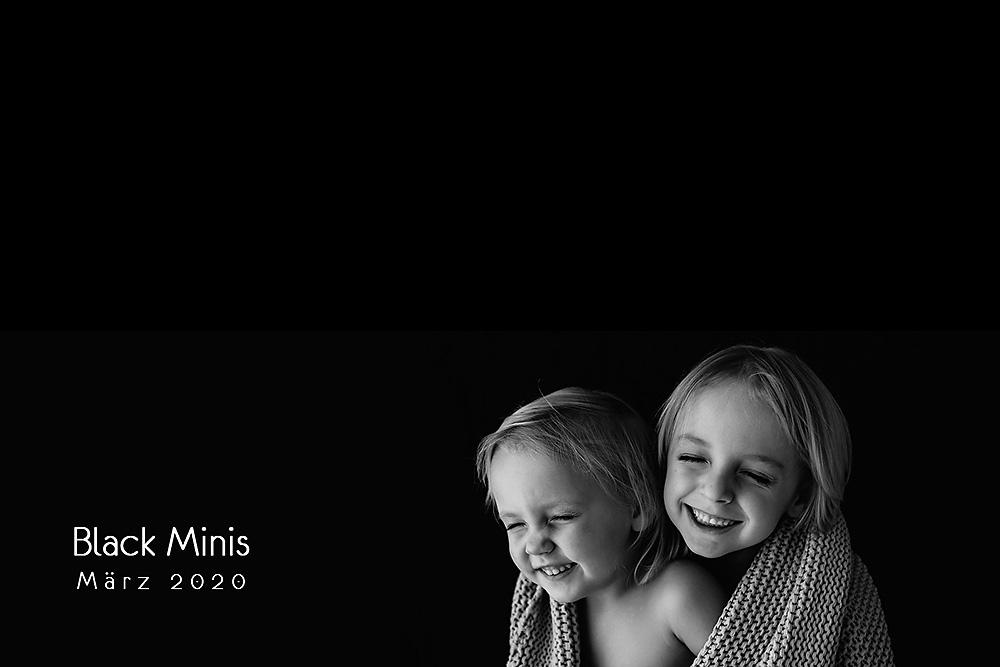 Kinderfotos schwarzweiß – Black Minis 2020